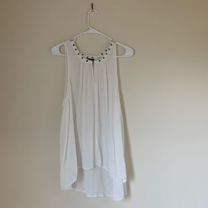 Peasant Top with Edgy Embellishments